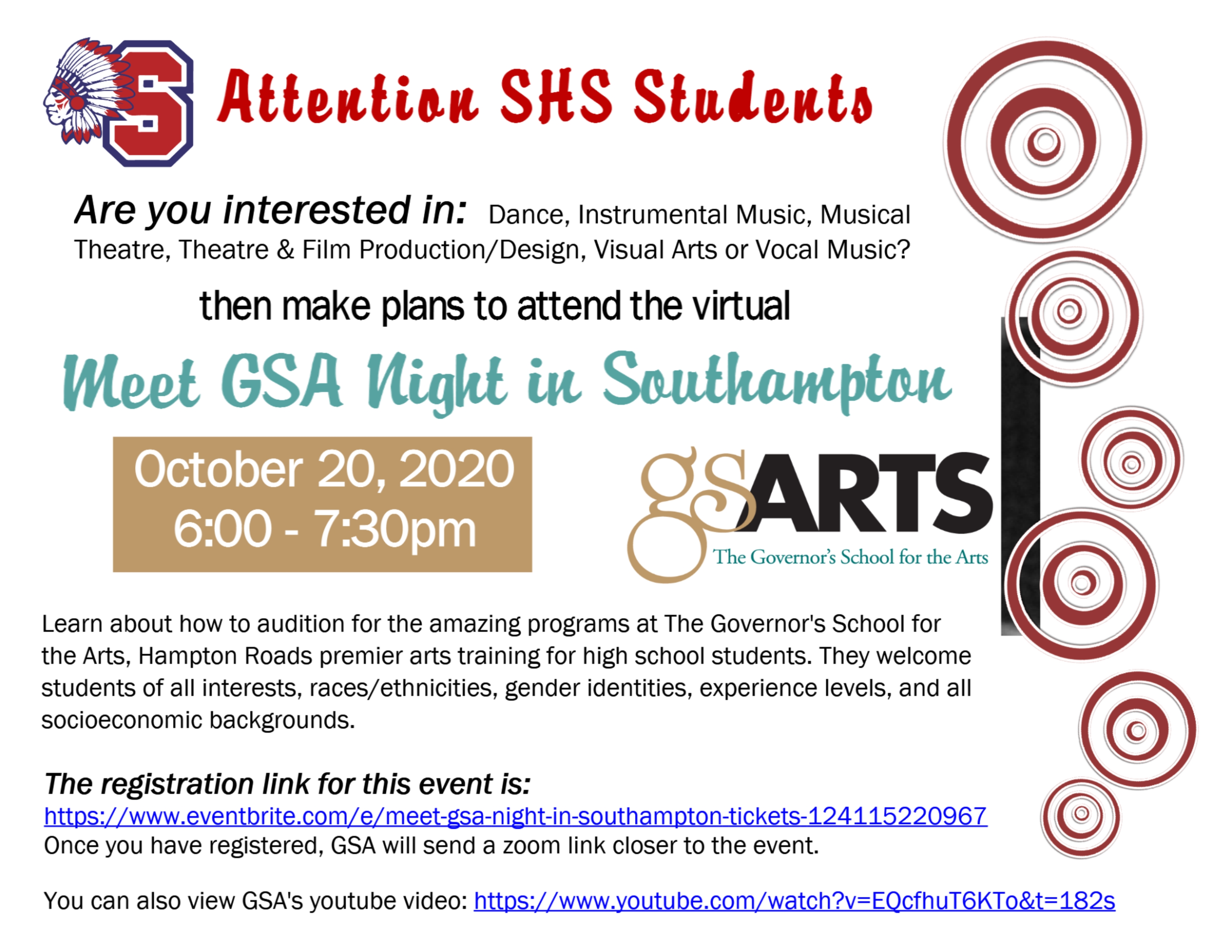 Governor's School for the Arts Informational Zoom Session